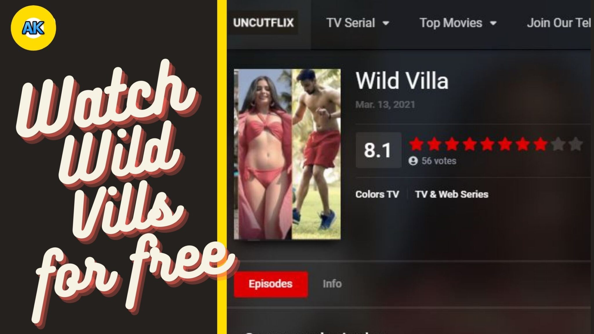 How to watch wild villa for free